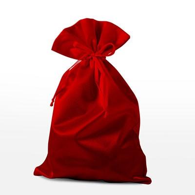 Pochette en satin - rouge