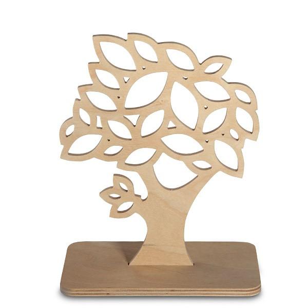 Kleiner Liebesschloss-Baum aus Holz